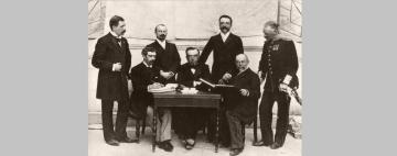 H πρώτη Διεθνής Ολυμπιακή Επιτροπή, στους Ολυμπιακούς Αγώνες της Αθήνας το 1896.